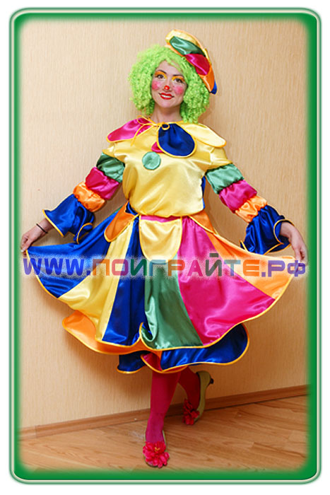 Костюм клоуна на взрослого с пояснениями